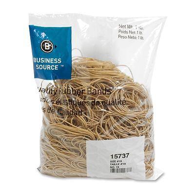 Business Source 15737 Rubber Bandssize 191 Lb.bg3-12x116 Natural Crepe