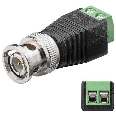 BNC Adapter Stecker auf 2-Pin Terminal Block Schraub Klemmen BNC Kabel Adapter