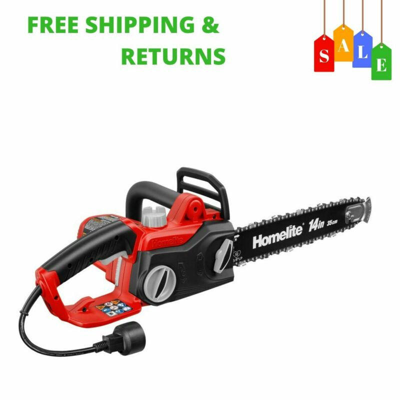 14In 9 Amp Electric Corded Tree Chainsaw With Tool-Free Chai