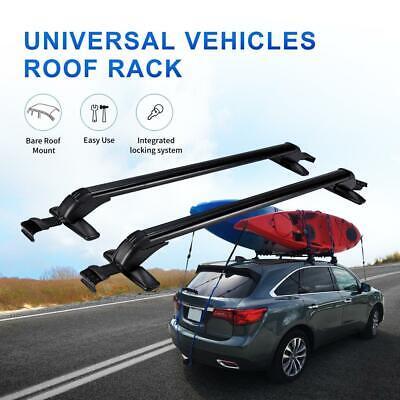 Car Roof Rack Cross Bars Luggage Bike Carrier w/ Lock for Chevrolet Ford 4-Door