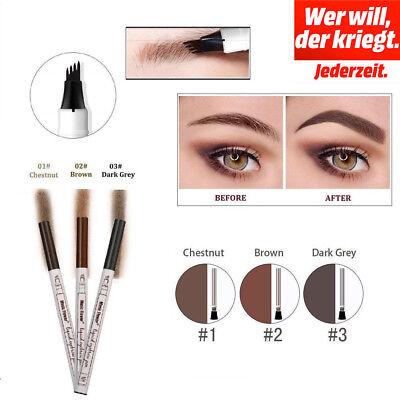 Tattoo Augenbrauenstift mit Tips Langanhaltend wasserfest Eyebrow Augen Make-up (Augen Make-up Tattoo)