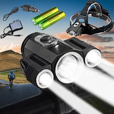 35000Lumens Shadowhawk CREE 3 x T6 LED Headlamp 18650 Headlight Torch Head Lamp