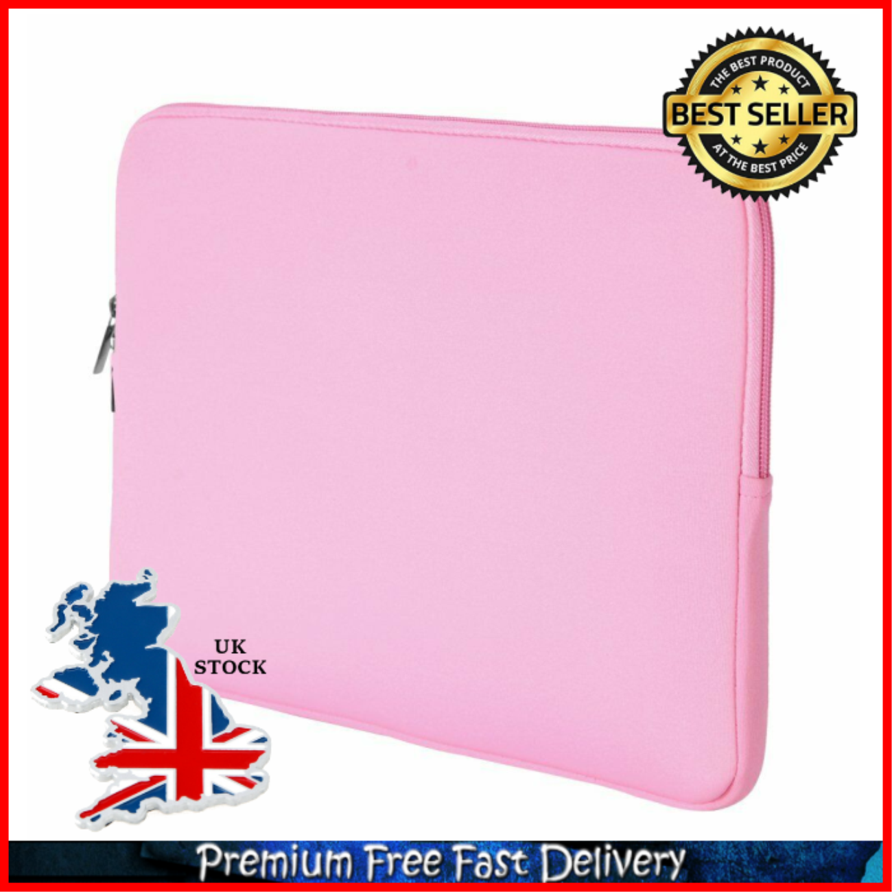Pink RAINYEAR 15.6 Inch Laptop Sleeve Protective Case Zipper Cover Computer Carrying Bag Compatible 15.6 Notebook Computer Ultrabook Chromebook for Dell HP ThinkPad Lenovo Asus Acer Toshiba Samsung