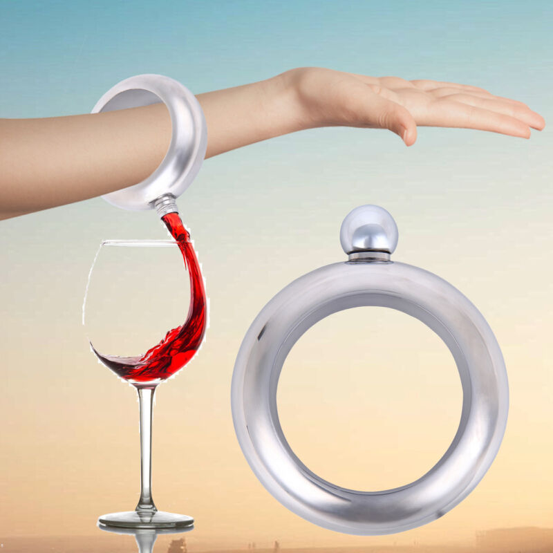 3.5oz/100ml Flask Bangle Bracelet Wine Smuggle Booze Alcohol