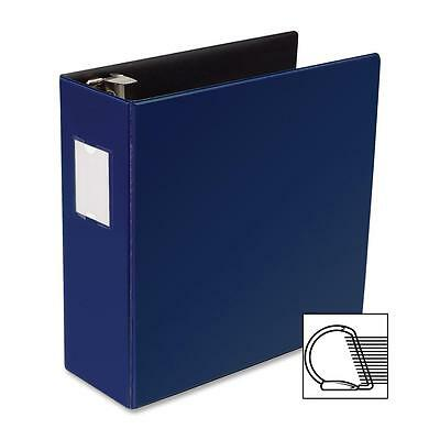 Business Source D-ring Binder Wlabel Holder Hvy-dty 4 Blue 33119