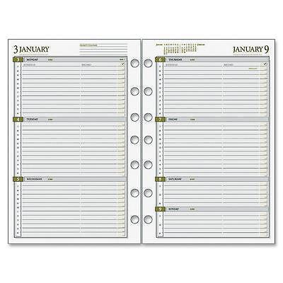 Acco Weekly Planner Calendar Refill 2ppw Jan-dec 5-12x8-12 481285y