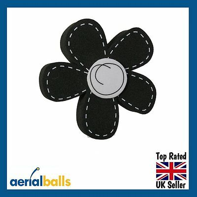 SALE...Black Daisy Flower Car Aerial Ball Topper or use as Dashboard Wobbler