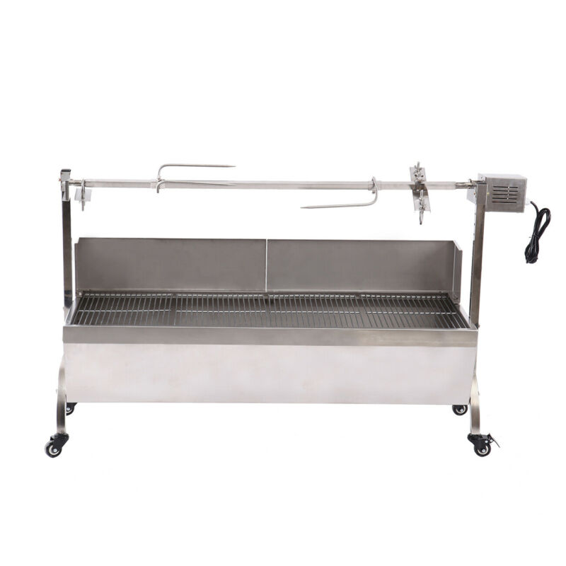 Rotisserie Grill Roaster Stainless Steel 25W Large Capacity