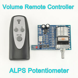 NEW 100K ALPS Remote Control Volume Motorized Potentiometer For Preamp Amplifier