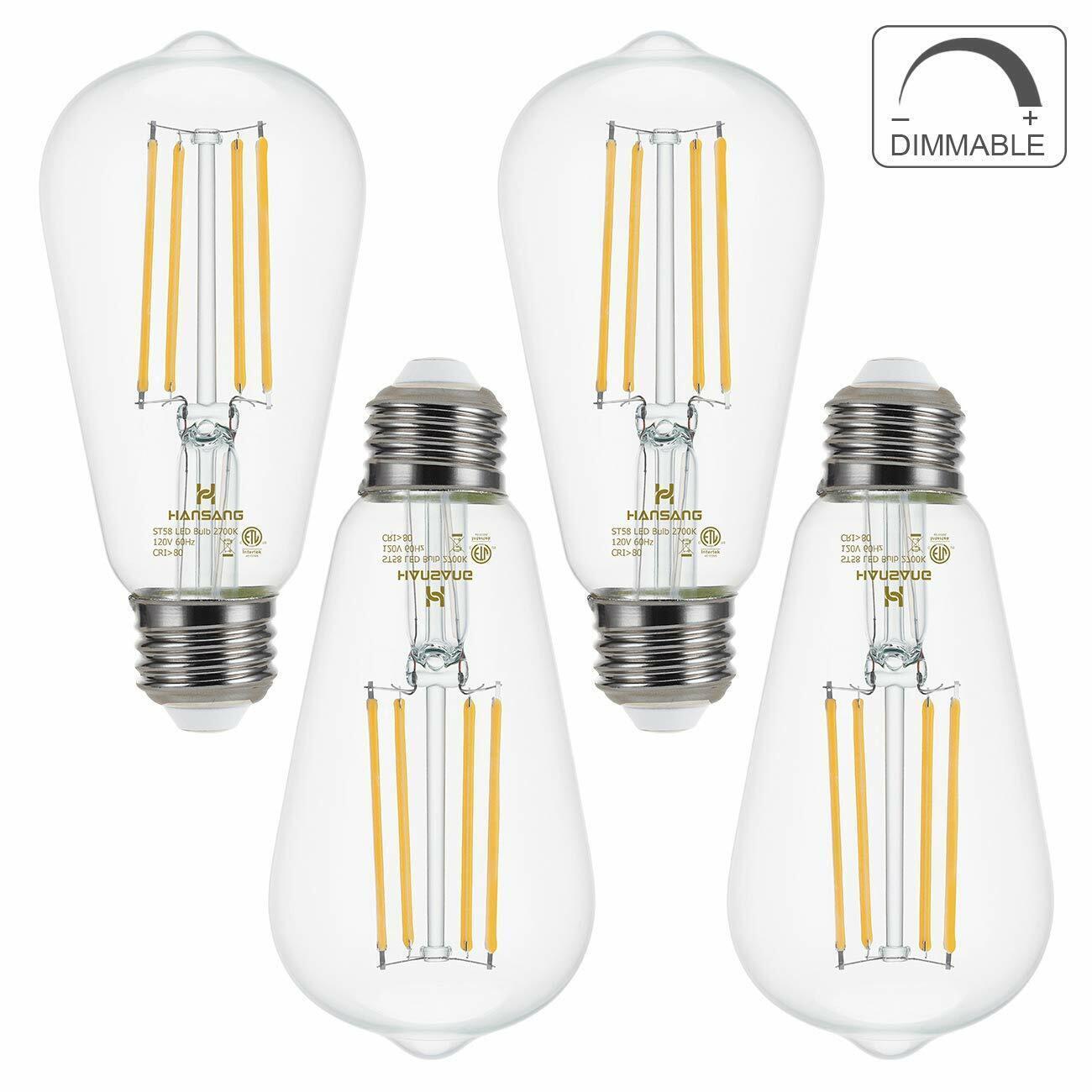 Dimmable LED Edison Bulb E26 Base 60 Watt Equivalent 2700K W