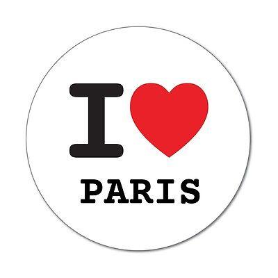 I love PARIS - Aufkleber Sticker Decal - 6cm (Paris Aufkleber)