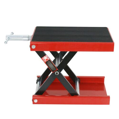 1100LB Motorcycle X Dirt Bike ATV Scissor Jack Center Lift Crank Repair Stand HD Automotive Tools & Supplies