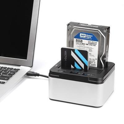 """Dual Festplatten Dockingstation Kopierstation 2.5/3.5"""" USB 3.0 SATA SSD HDD Dock"""