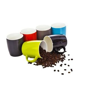 6 XXL Kaffeebecher Set Kaffeetassen Tasse Becher Kaffeetasse Porzellan Keramik