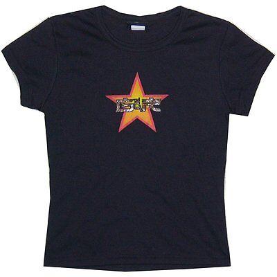 GUNS N ROSES GEL GLITTER STAR GIRLS JUNIORS BLACK T SHIRT OSFM MED NEW OFFICIAL