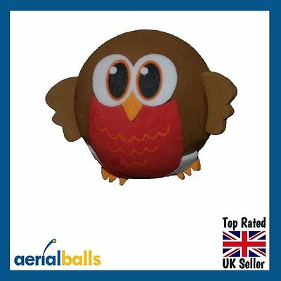 Cute Robin Redbreast Bird Tweet Car Aerial Ball Antenna Topper