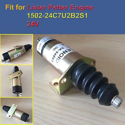 1502-24c7u2b2s1 24v Fuel Shut Off Solenoid Valve Fit For Lister Petter Engine