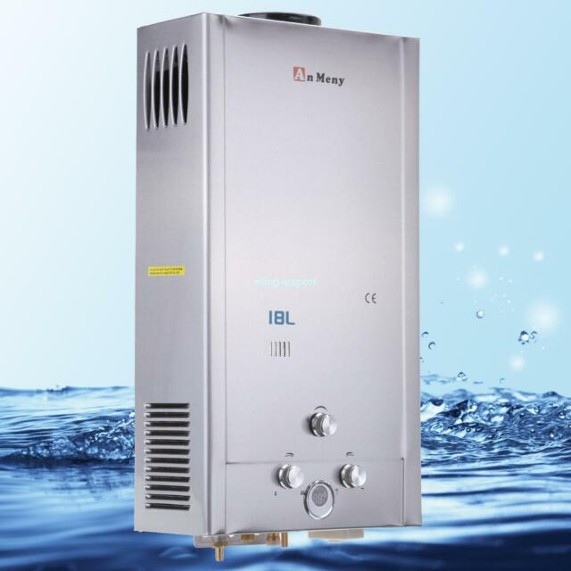 Tankless Hot Water Heater For Showers : Instant lpg propane gas l tankless gpm hot water heater