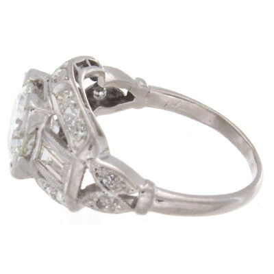1.57ct Old European Cut GIA Certified Platinum Antique Engagement Ring 2
