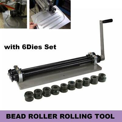 Bead Roller Rolling Tool Sheet Metal Steel Gear Drive Rotary Machine W6dies Set