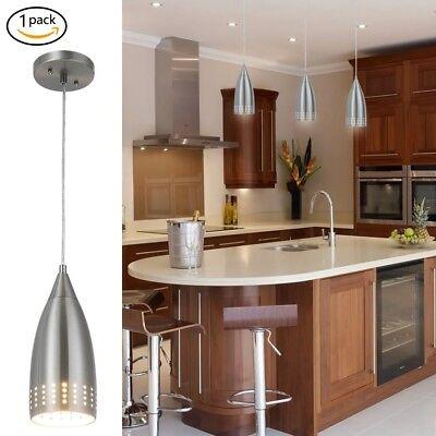 Modern Hanging Light Fixture Pendant Ceiling Kitchen Island Nickel Brushed Mini