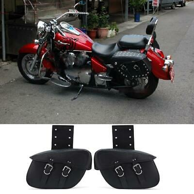 Synthetic Leather Universal Motorcycle Bike Saddle Side Bag Waterproof TOP US, used for sale  USA
