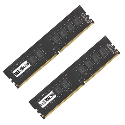 2PCS 16GB DDR4 2666 PC4-2666V Desktop 288PIN Memory RAM Computer Components & Parts