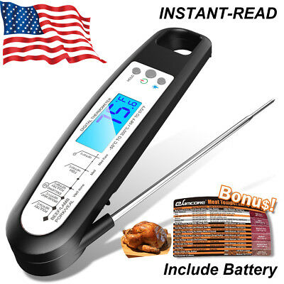 Instant Read Digital Food Meat Thermometer for Turkeys Kitchen Cooking BBQ Grill