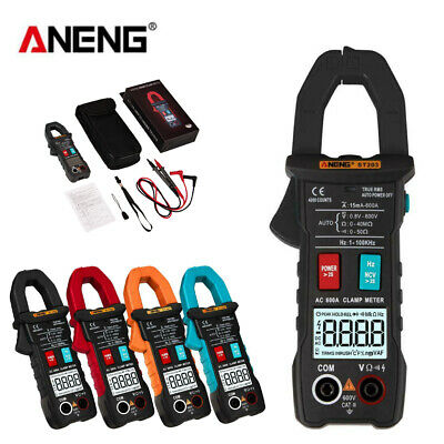 Aneng Digital Lcd Multimeter Amper Clamp Meter Acdc Ncv Current Voltage Tester