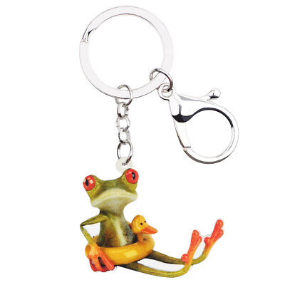 Acrylic Duck Buoy Frog Keychain Rings For Women kids Purse Decor Jewelry Gifts  ](Keychains For Kids)