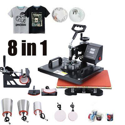 8 en 1 Prensa de Calor Máquina Taza Camiseta Gorra Heat press...