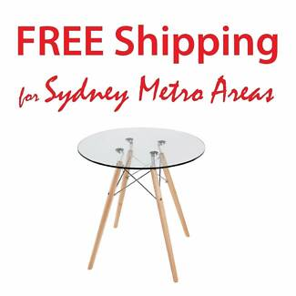 SALE - Eames Style Wood Leg Dining Table (dia 70cm)