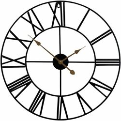 """Sorbus Wall Clock, 24"""" Round Oversized Centurian Roman Numeral Style Home..."""