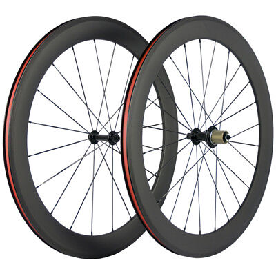 700C 60Mm Carbon Wheelset Clincher  Bicycle Wheels R13 Road Bike Wheel Handbuild
