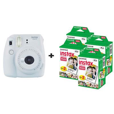 Fuji Fujifilm Instax Mini 9 Instant Camera with 80 Shots - Smoke White