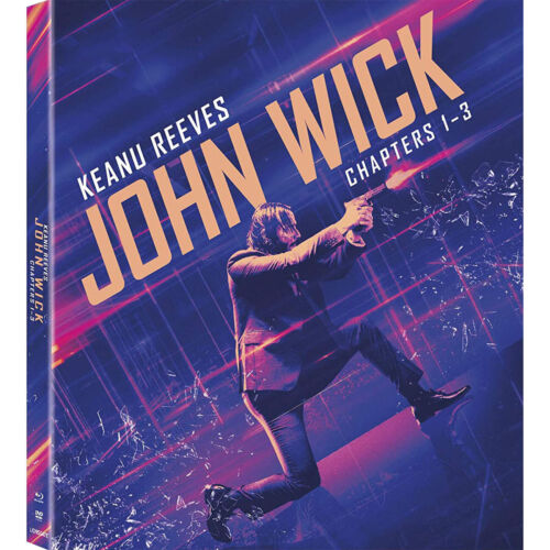 John Wick 3-Movie Collection Trilogy Chapter 1-3 DVD Keanu Reeves Free Shipping