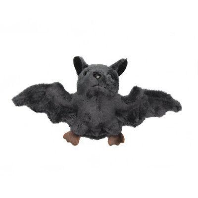 Fledermaus Plüschtier Kuscheltier Magnet Kühlschrankmagnet Stofftier grau B:18cm
