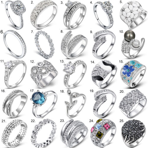 Ring - Women 925 Sterling Silver Jewelry Filled Wedding Engagement Wedding Fashion Ring
