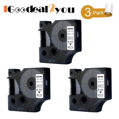 3pk Compatible Dymo D1 45013 45010 Label Tape For Dymo Labelmanager 160 280 420p