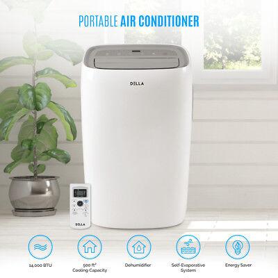 DELLA 14,000 BTU Portable Air Conditioner Dehumidifier AC Re