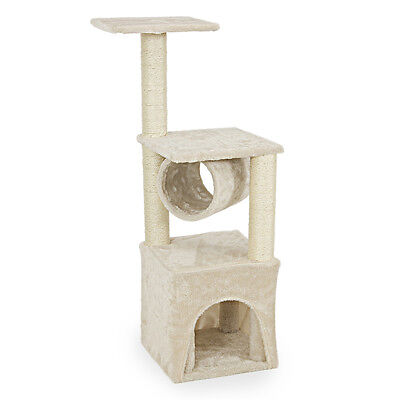 "Deluxe Cat Tree 36"" Condo Furniture Scratching Post Pet House Toy Play"