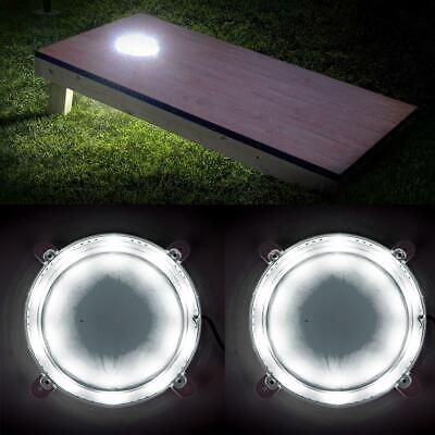 2pc LED Cornhole Light Baggo Bean Toss Bag Led Board Night Light Set Dadhole