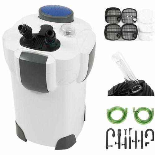 100 GallonAquarium Fish Tank Canister Filter + 9W UV Sterilizer 370 GPH HW-303B