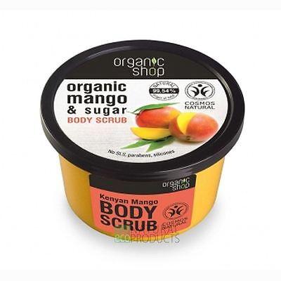 Organic Shop Body Scrub Natural Kenyan Mango and Sugar 250ml