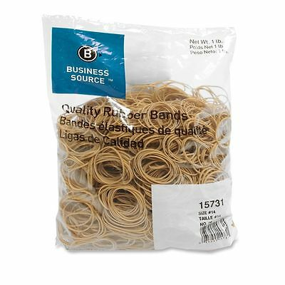 Business Source 15731 Rubber Bands-size 14 1 Lb Bag 2 X 116 Natural Crepe
