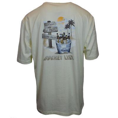Bucket List Mens T Shirt   Joe Marlin   Drink Beer Bahama Beach   Paradise Ale