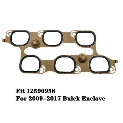 LOWER 6 INTAKE MANIFOLD GASKET FITS FOR 2009-2017 BUICK ENCLAVE NEW
