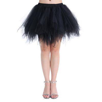 Tu Tu Skirt (Women's 1950s Vintage Petticoats Crinolines Bubble Tutu Dance)