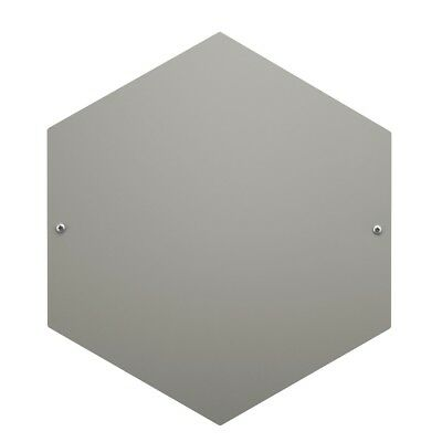 banjado Magnettafel Hexagon Memoboard grau Metall Pinnwand Magnetwand klein 40cm