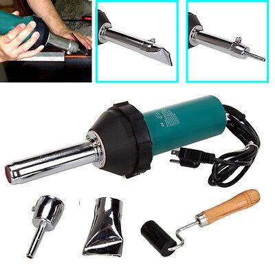 Hot Air Torch Plastic Welding Welder Gun Pistol Tool 1080W w/ Nozzle & Roller